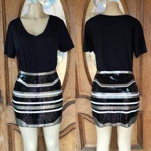 Express Sequin Mini Skirt MEDIUM